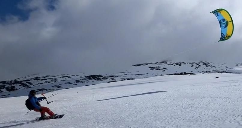 сноукайтинг Лапландия
