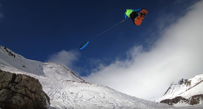 сноукайтинг Альпы
